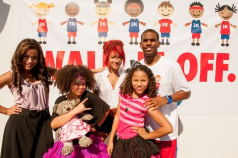 The Sledge Grits Band with Chris Paul at LA's BEST Family Health Festival in 2012