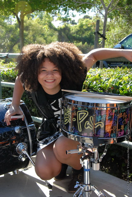 bo-Pah with her Serenity snare. (c) Stan Thomas/Kanale Creations