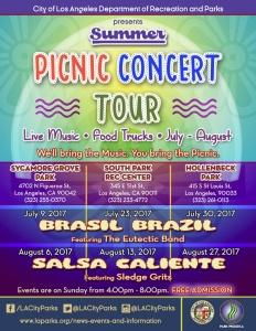 2017 Summer Picnic Concert Tour Flyer